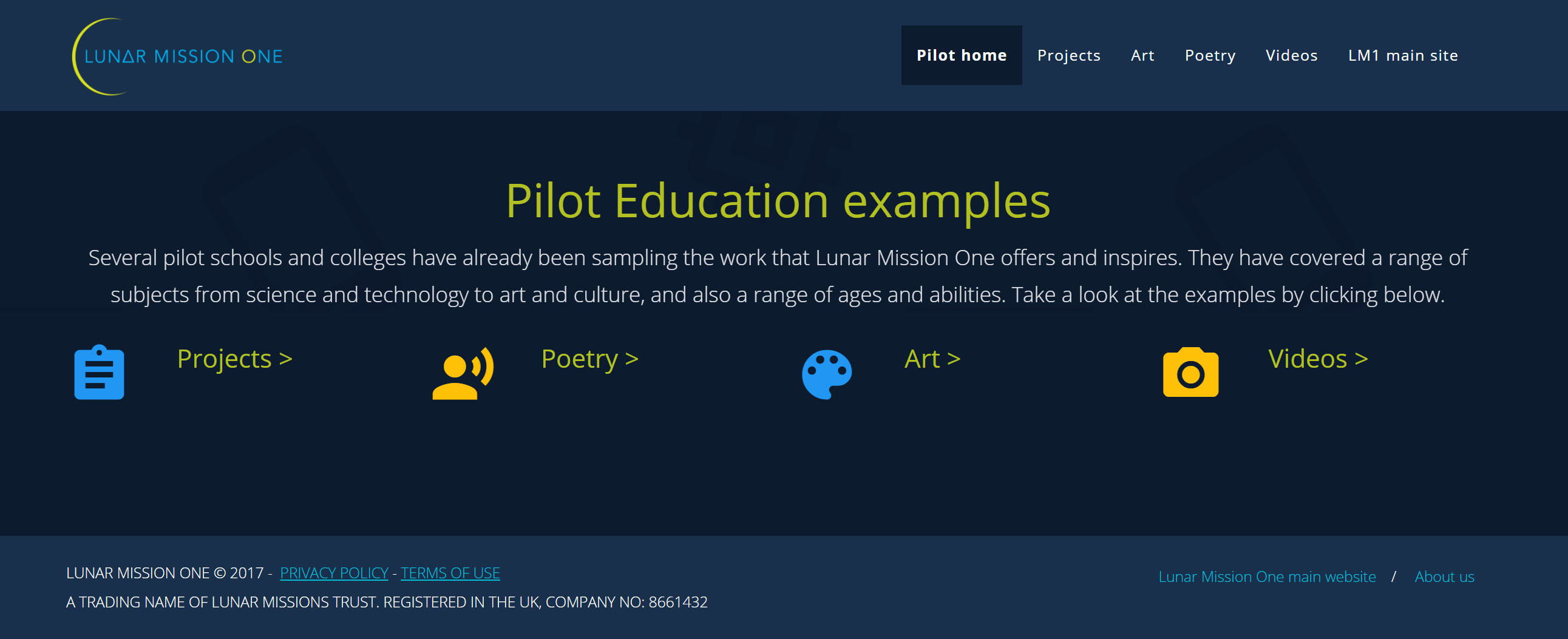 Pilot Education examples site
